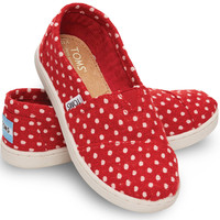 RED WOOL DOT YOUTH CLASSICS