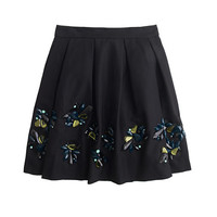 J.Crew Womens Collection Jeweled Faille Skirt
