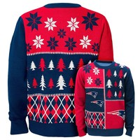 New EnglandPatriots Ugly Sweater - Boys 8-20|NFL Ugly Sweater - Boys 8-20