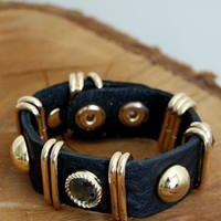 I Am A Summer Pirate Bracelet, Black