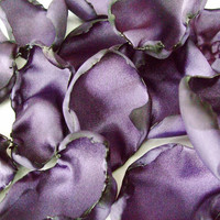 Purple flower petals rose petals table by ShabVintiqueFlowers
