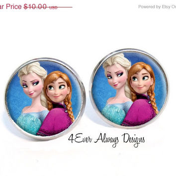 ON SALE Frozen Elsa and Anna Earrings