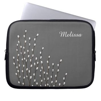 Customizable Pussywillow Branches Laptop Sleeve