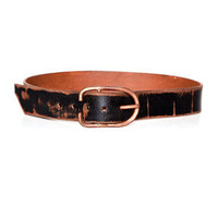 Cause and Effect Copper and Distressed Black Leather Belt | Bows + Arrows