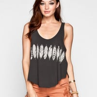 RVCA Feather Strip Womens Tank 235201104 | Graphic Tees & Tanks