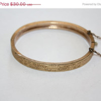 Christmas Sale Victorian GF Bracelet Bangle Small Size 1894 Jewelry