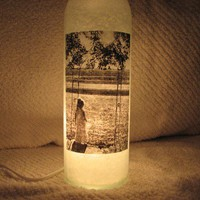 Personalized Picture Decorative Lighted Wine Bottle