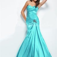 Attractive Trumpet/Mermaid Sweetheart Floor Length Satin Evening Dress-$136.98-ReliableTrustStore.com