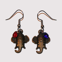 Elephant Earrings, Elephant Jewelry