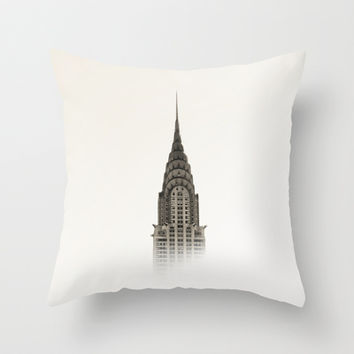 Chrysler Building - NYC Throw Pillow by Nicklas Gustafsson