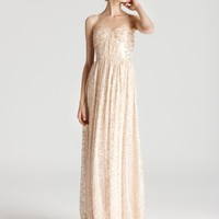 ERIN Erin Fetherston Strapless Gown - Lurex Shirred - Homecoming - Dresses - Apparel - Contemporary - Bloomingdale's