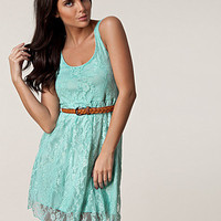 Lace Belt Dress, Club L