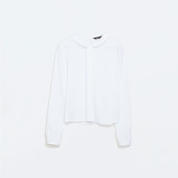 Blouse with peter pan collar