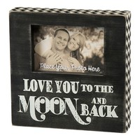 """""""Love You to the Moon and Back'' 4'' x 6'' Wooden Box Frame"""