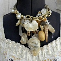 Seashell & Jute Mermaid's Necklace by SeaDebris on Etsy