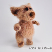 Hand Knitted Artist Puppy Doll Light Brown 65'' by Arcticfoxie