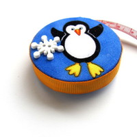 Tape Measure with Penguin Fabric Measuring Tape