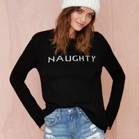 Knitz by For Love and Lemons Angora Naughty Sweater