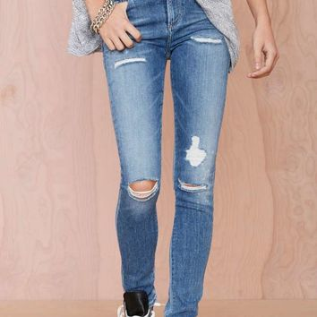 A Gold E Sophie Distressed Skinny Jean