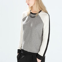 Jewel collar sweater