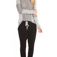 GREY HOODED KNIT PULLOVER SWEATER