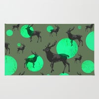 Dear deers - color option Rug by AmDuf