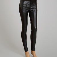 Premise Paris Black Faux Leather Leggings | zulily
