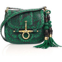 Gucci | Python shoulder bag | NET-A-PORTER.COM