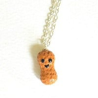 Peanut Polymer Clay Necklace by Pumpkinpye517 on Etsy