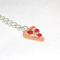 Pepperoni Pizza Necklace by Pumpkinpye517 on Etsy