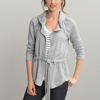 Ruffle tie-waist sweater jacket | Banana Republic