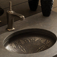 Bronze flower sink