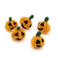Felt Jack o Lantern miniature Halloween decorations