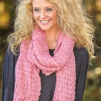 Snowbound Sweetie Scarf-Dusty Pink