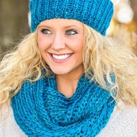 Friends & Family Scarf-Turquoise