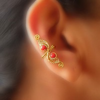 Coral Dragon Ear-Cuff