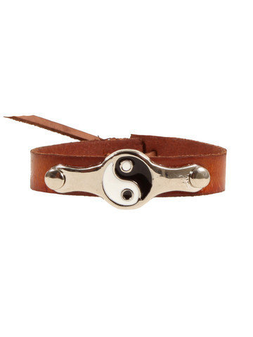 GYPSY WARRIOR - Leather Yin Yang Bracelet - Brown