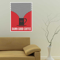 Twin Peaks Poster, Damn Good Coffee Movie Poster Art Print. #damngoodcoffee