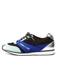Qupid Color Block Sneakers by Charlotte Russe - Black Combo