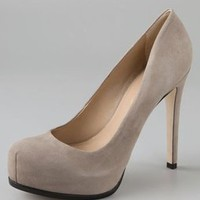 Pour La Victoire Irina Suede Pumps on Hidden Platform