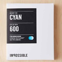 Impossible Color Shade Polaroid 600 Instant Film- Turquoise One