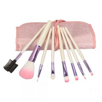 8pcs Professional Makeup Brush Set with Case