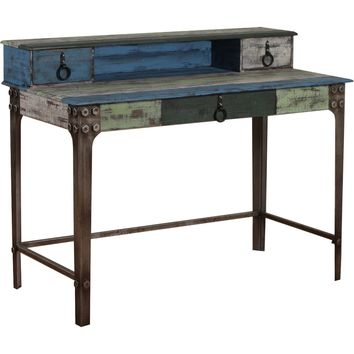 Calypso Desk Distressed Painted Fir Wood