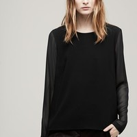 Rag & Bone - Harper Long Sleeve Top, Black