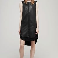 Rag & Bone - Longtail Shirt Dress, Black