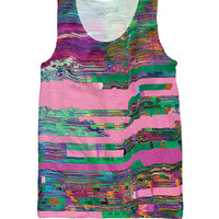 Let's Rage Glitch Tank Top exclusively from RageOn!