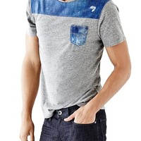 Short-Sleeve Sublimated Pocket Tee | GUESS.com