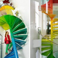 Cool And Fun Living Space ? Rainbow House | materialicious