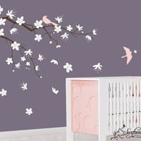 Contemporary Cherry Blossom Branch  Baby by surfaceinspired
