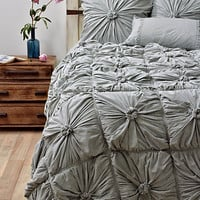 Rosette Bedding, Heather Grey